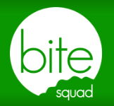 Green Bite Squad Button linked to online ordering